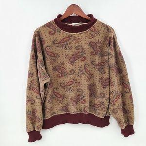 Vintage Hugo Boss Paisley Print Pullover Knit Hems